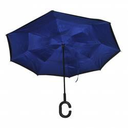 2d844c98b8a ЧАДЪР за дъжд, син 57 см. радиус, дръжка С дизайн 2020 (10